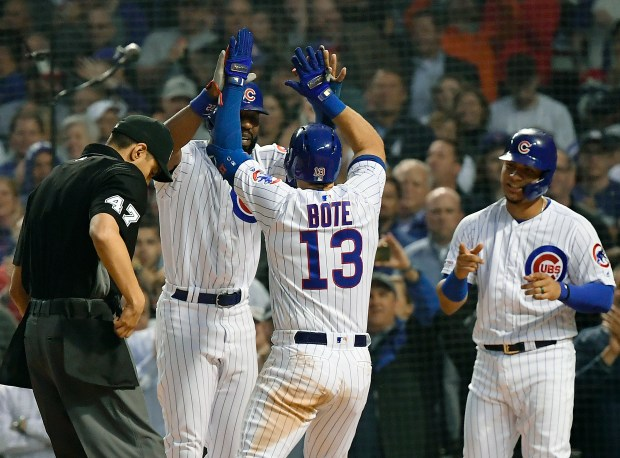 David Bote #13 of the Chicago ...