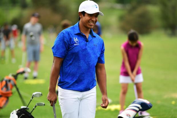 Mateo Manzanares golfing in Colorado