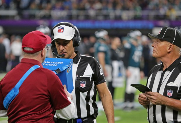 Official Gene Steratore views a ...