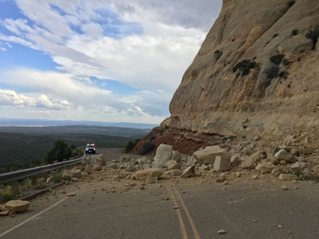 Rockslide closes road in Dinosaur National Monument, no injuries reported