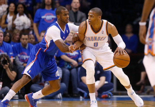 Oklahoma City Thunder guard Russell ...