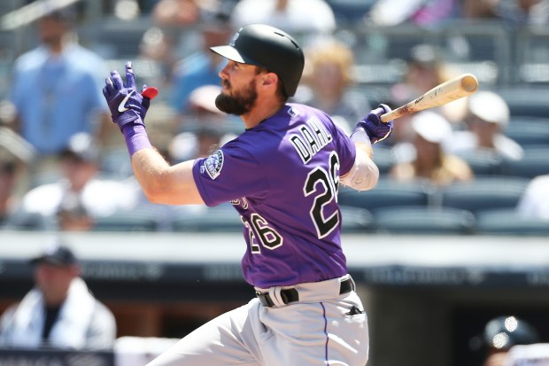 David Dahl #26 of the Colorado ...