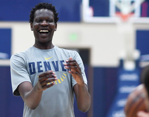 Bol Bol, a 7-foot-3 center, shoots ...