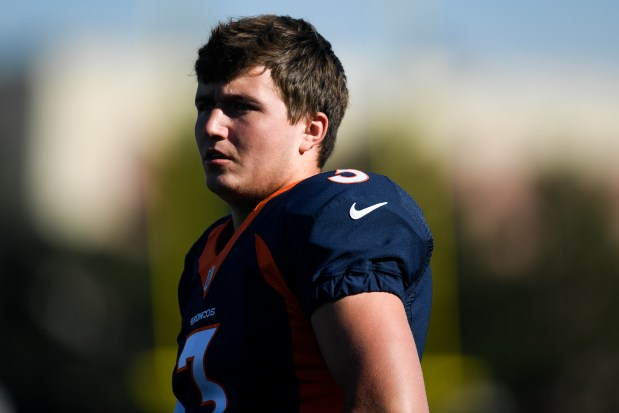 Drew Lock (3) of the Denver ...