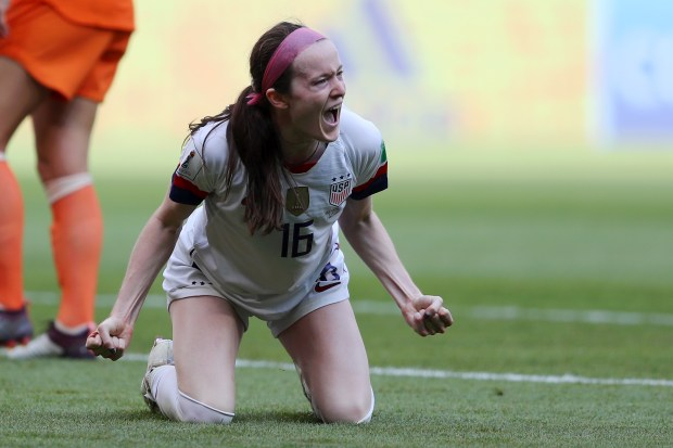 Rose Lavelle of the USA celebrates ...