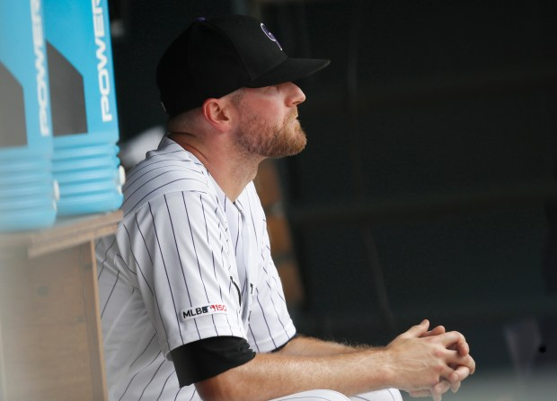 Colorado Rockies relief pitcher Wade Davis ...