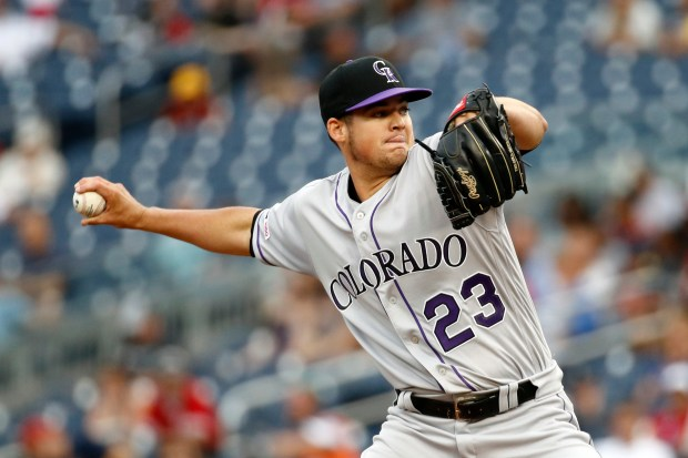 Colorado Rockies starting pitcher Peter Lambert ...