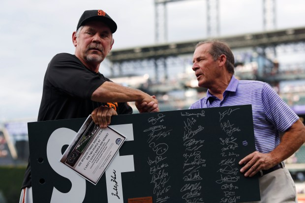 San Francisco Giants manager Bruce Bochy, ...