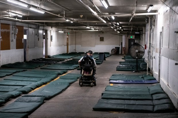 A man passes by 150 beds ...