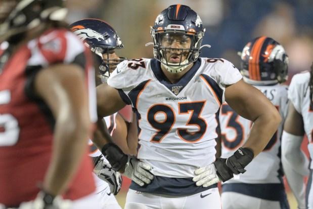 Denver Broncos defensive end Dre'Mont Jones ...