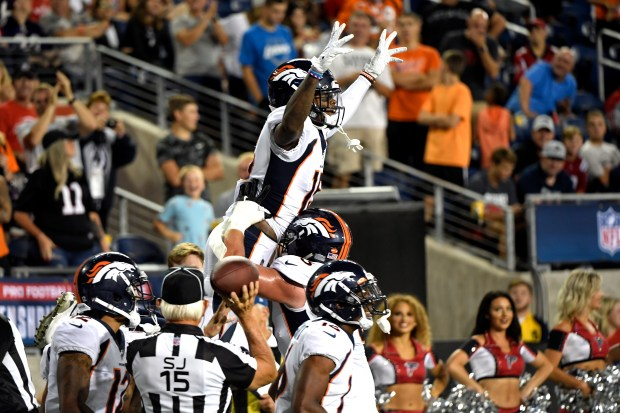 Denver Broncos wide receiver Juwann Winfree ...
