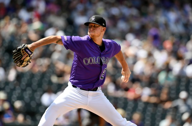 Colorado Rockies Kyle Freeland pitches in ...