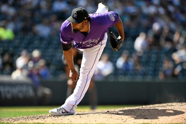 Colorado Rockies Jairo Diaz pitches in ...
