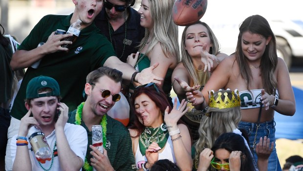 Colorado State students enjoy a rowdy ...