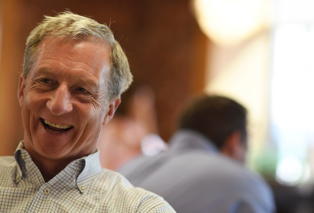 Democratic presidential candidate Tom Steyer makes ...