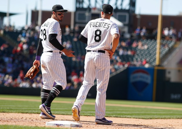Colorado Rockies third baseman Nolan Arenado, ...