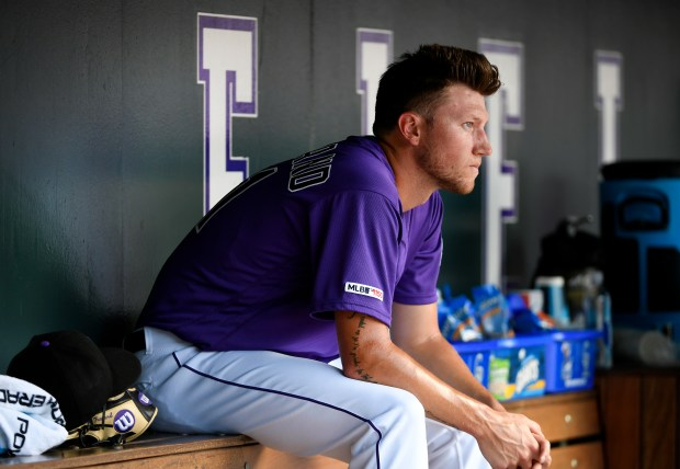 Colorado Rockies Kyle Freeland looks dejected ...