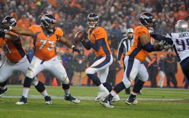 Denver Broncos quarterback Brock Osweiler sets ...