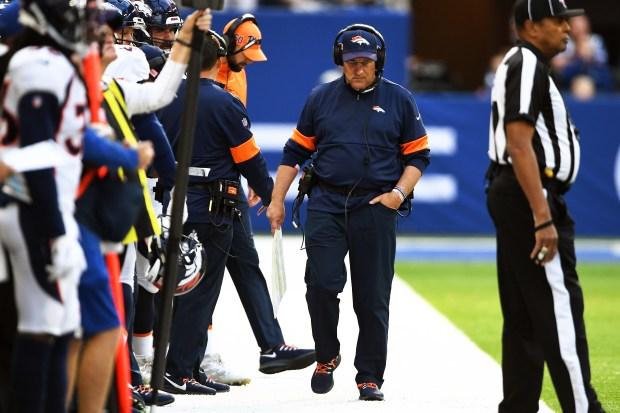 Denver Broncos head coach Vic Fangio ...