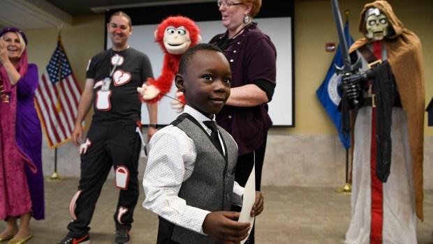 Emmanuel Famoriyo, 5, from Nigeria, moments ...