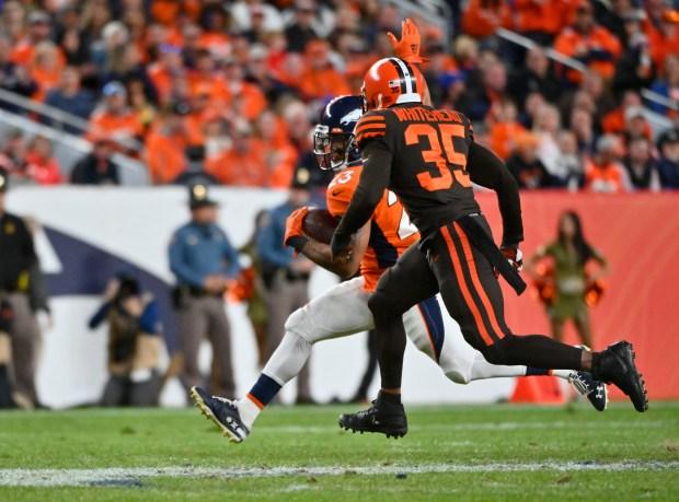 Denver Broncos running back Devontae Booker ...