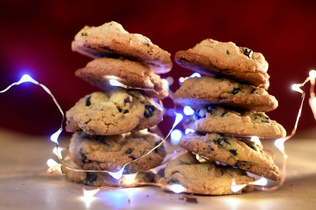 Dried cranberry and chocolate chip cookies ...