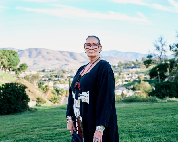 Linnea Garcia-Tatupu at her home in ...
