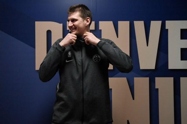 Nikola Jokic (15) of the Denver ...