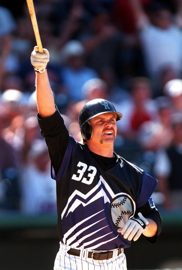 Larry Walker celebrated his winning home ...