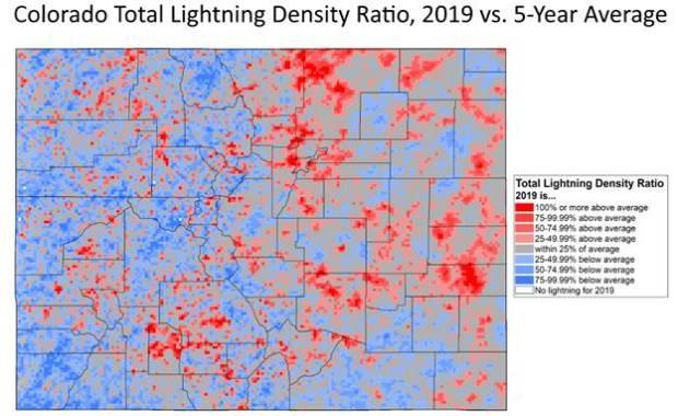 Colorado saw 3.7 million lightning strikes in 2019
