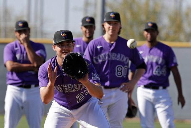 Colorado Rockies' Peter Lambert makes a ...