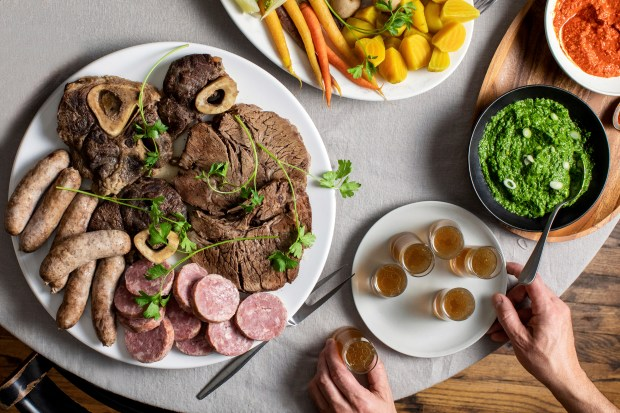 Bollito misto with vegetables and two ...