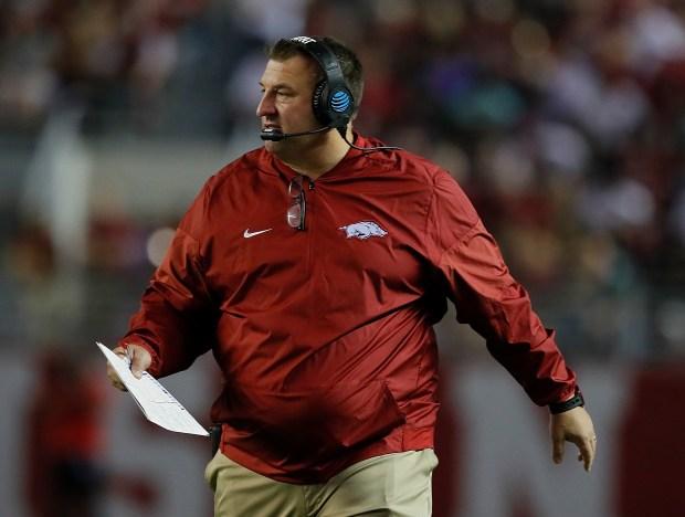 Head coach Bret Bielema of the ...