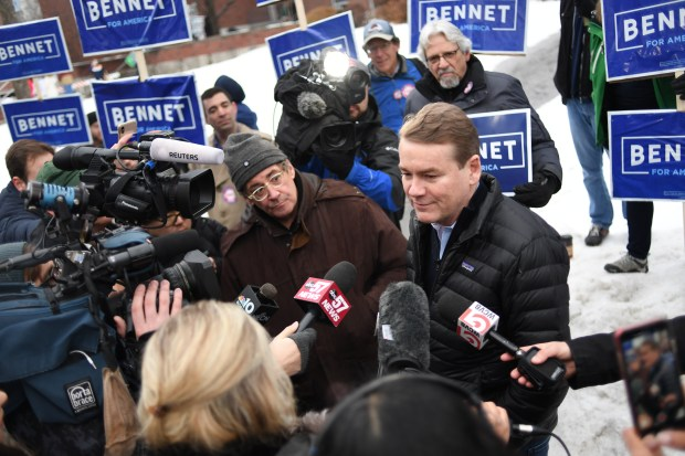 Democratic presidential candidate Michael Bennet starts ...