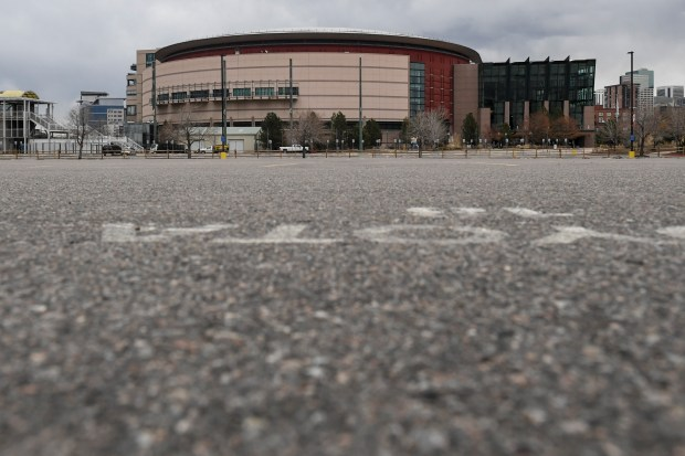 The Pepsi Center and an empty ...