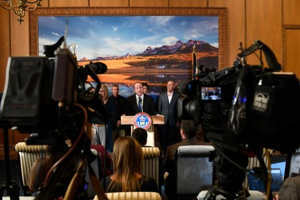 Colorado Governor Jared Polis addresses the ...