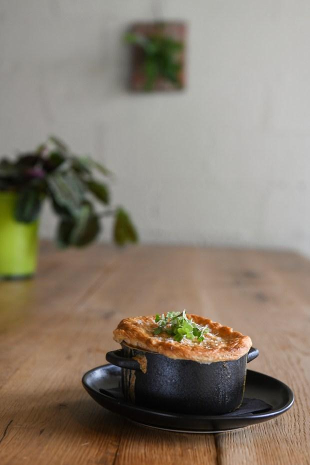 Garden Pot Pie made with Bechamel, ...