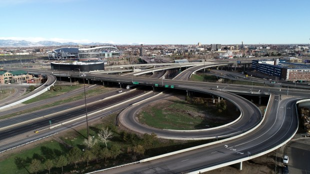 A nearly-empty I-25 exit ramp to ...