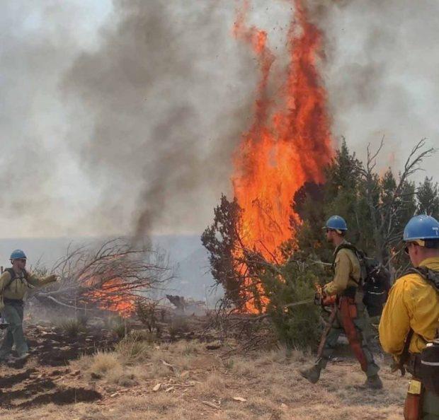 Firefighters battle 10,000-acre fire in Las Animas County