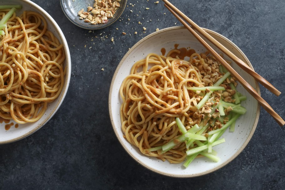 FILE -- Takeout-style sesame noodles in ...