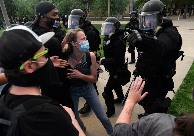 Elijah McClain protesters clash with Aurora ...