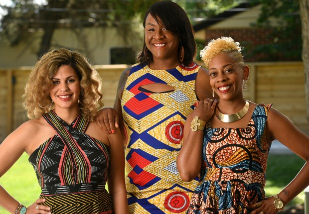 From left to right Nneka McPhee, ...