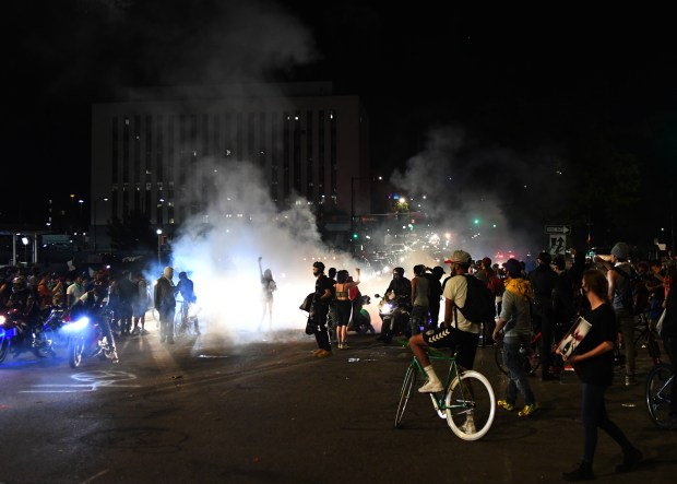 Fifth night of George Floyd protests remained peaceful for several hours, tear gas deployed just after midnight to disperse remaining crowd