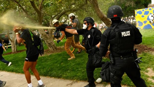 A member of the Denver SWAT ...