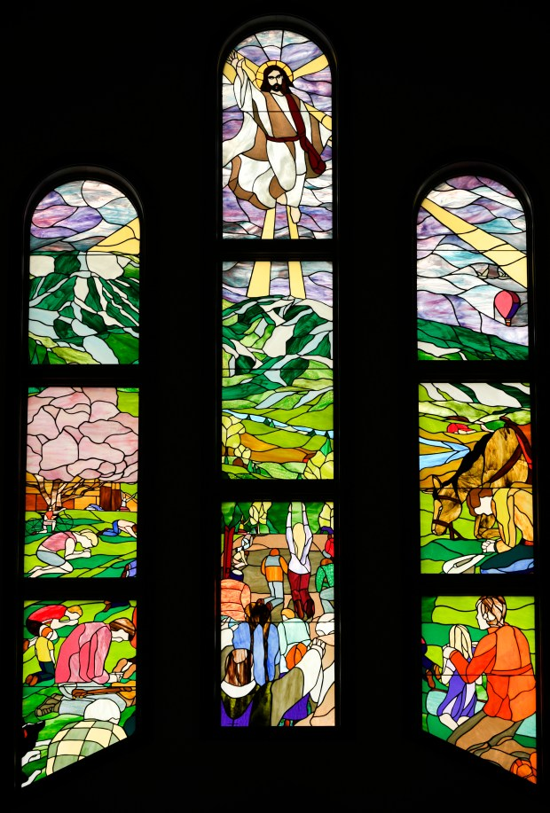 Stained glass windows called Every Knee ...