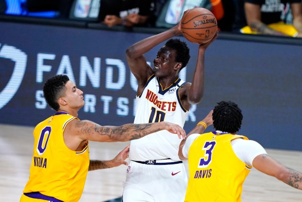 Denver Nuggets' Bol Bol (10) is ...