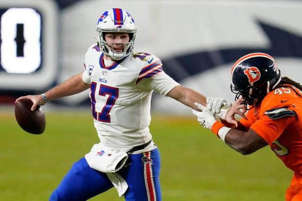 Buffalo Bills quarterback Josh Allen gets ...