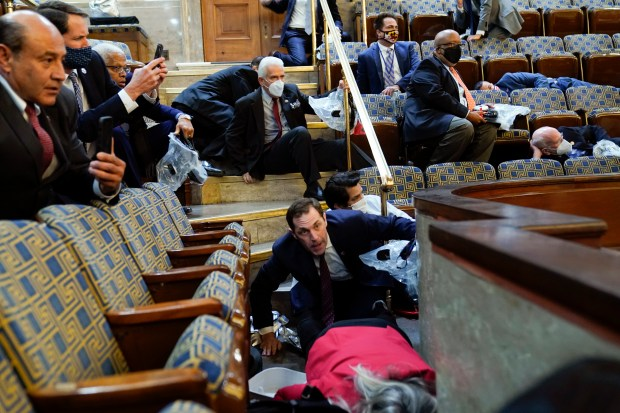 People shelter in the House gallery ...
