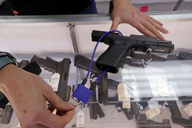 Gun shop owner Tiffany Teasdale ...