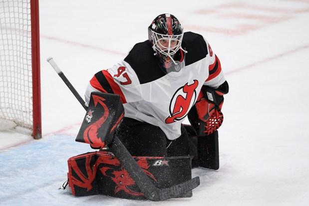 New Jersey Devils goaltender Aaron Dell ...